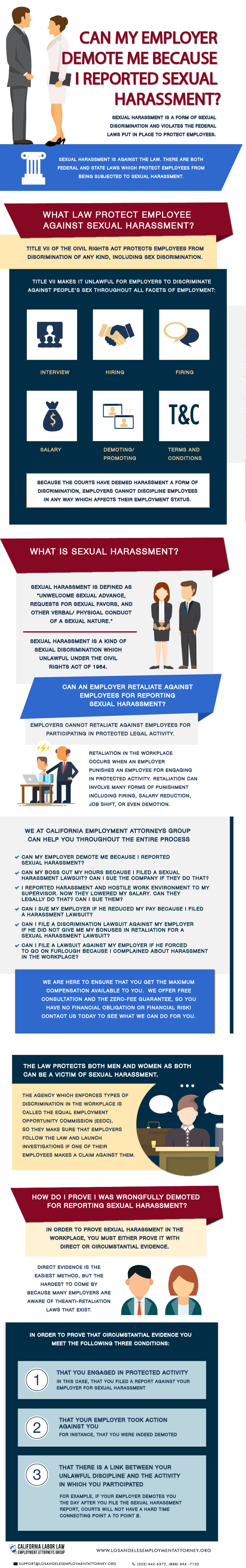 Can My Employer Demote Me Because I Reported Sexual Harassment - Inforgraphic