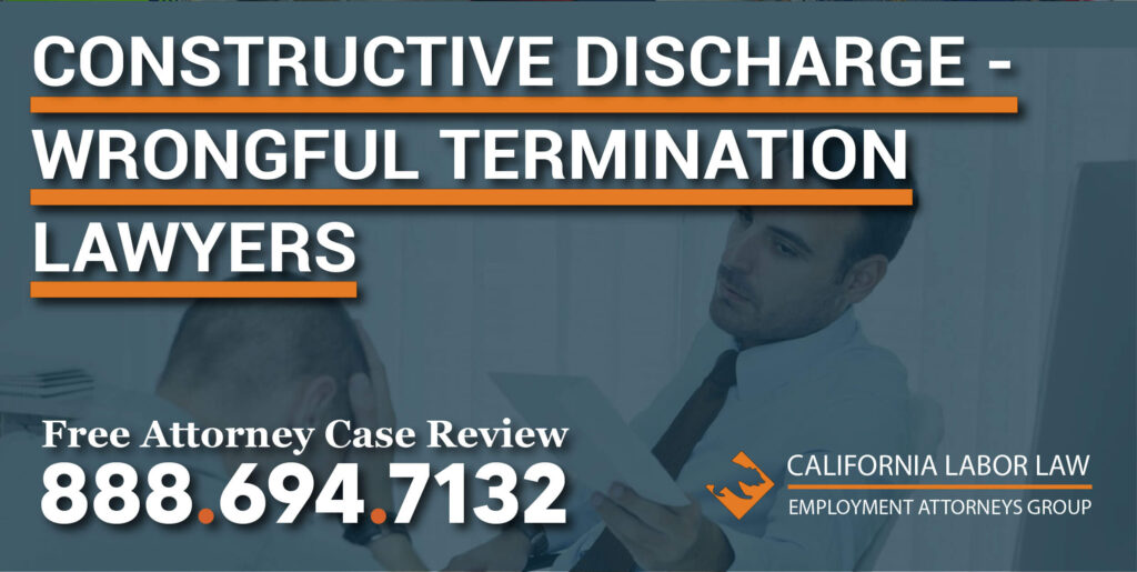 constructive discharge wrongful termination lawyers sue attorney employee employer