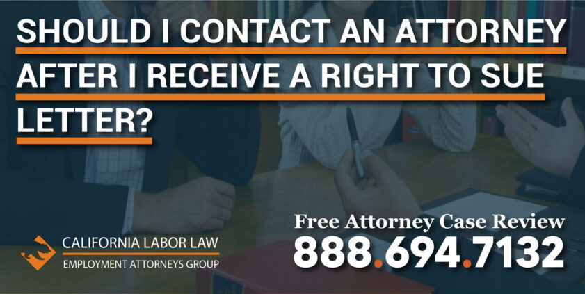 Should I Contact an Attorney after I Receive a Right to Sue Letter lawyer lawsuit help claim employee