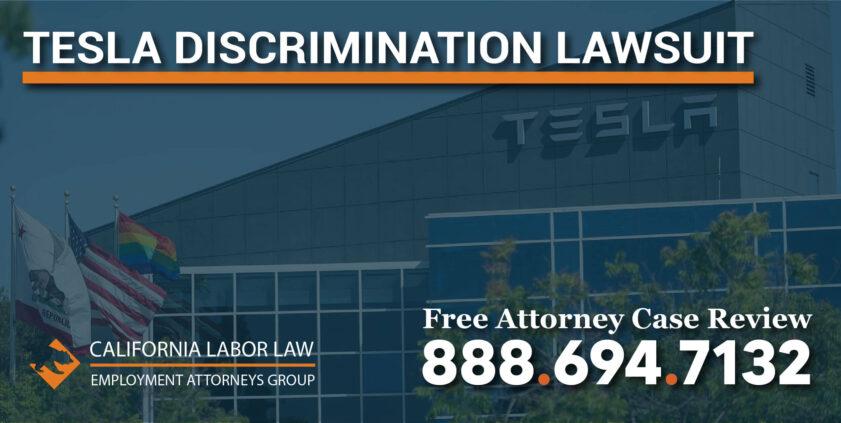 Tesla Discrimination Lawsuit lawyer attorney sue workplace protection compensation
