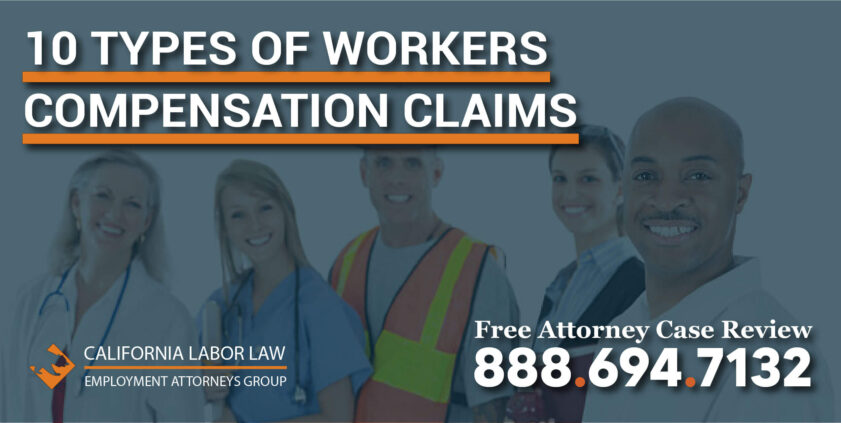 10 Types of Workers Compensation Claims falls overexertion falling objects slip trip