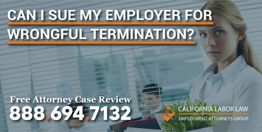 Can I Sue My Employer For Wrongful Termination lawsuit civil rights employment act lawyer attorney