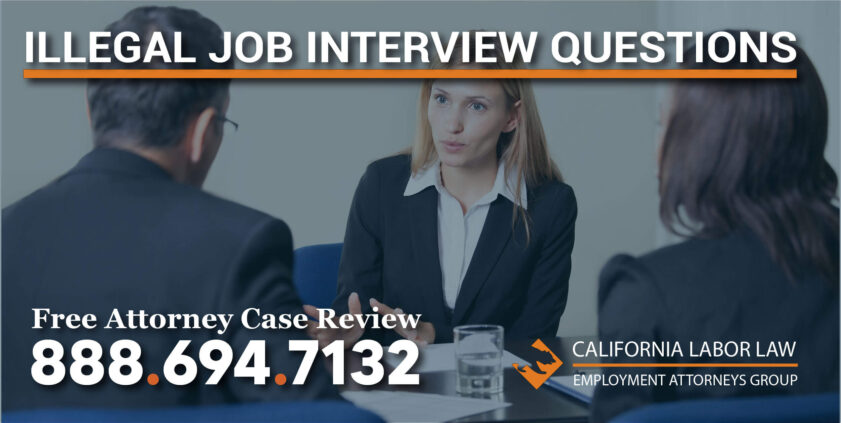 Illegal Job Interview Questions laws salary history