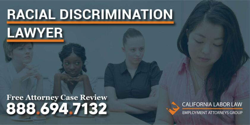 racial discrimination lawyer lawsuit attorney sue compensation demotion violation salary less pay